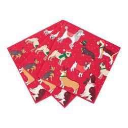Servietten Christmas Dogs 20 Stück