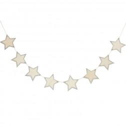 Holz Girlande Sterne 1,5m