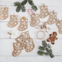 Fill Your Own Advent Calendar 24 Socken
