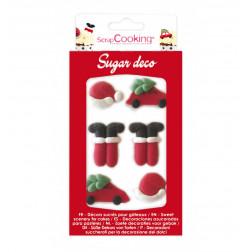Zuckerdekor Santa Claus 6er Set