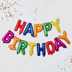 Air Folienballons Happy Birthday Rainbow