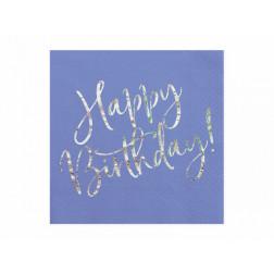 Servietten Happy Birthday navy blue 20 Stück