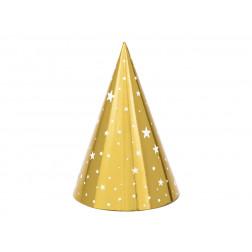 Party Hut Sterne Gold 6 Stück