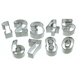 Ausstechformen Zahlen 9er Set