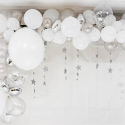 Ballons Arche silber 70 Stück