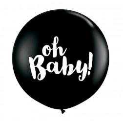 Riesen Ballon Oh Baby Rund 90cm