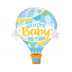 Folienballoon Welcome Baby Boy 107cm