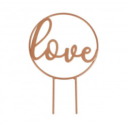 Cake Topper Love Script Rose Gold