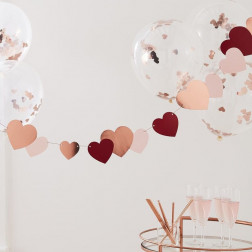 Rose Gold Heart Bunting