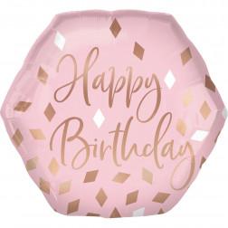 Folienballon Blush Birthday 58cm