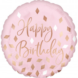Folienballon Blush Birthday 43cm