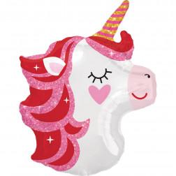 Folienballon Pretty in Pink Unicorn 53cm