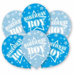 Luftballons Birthday Boy 6 Stück
