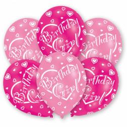 Luftballons Birhtday Girl 6 Stück