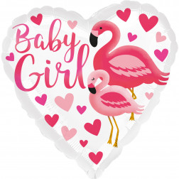 Folienballon Flamingo Baby Girl 43cm