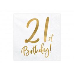 Servietten 21st Birthday 20 Stück