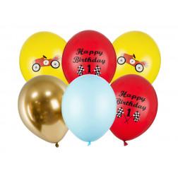 Luftballons Happy Birthday car mix 6 Stück