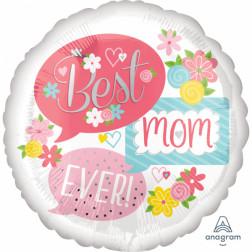 Folienballon Best Mom Ever 71cm