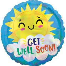 Folienballon get well soon Happy Sun 43cm
