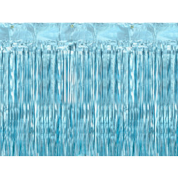 Lametta curtain blue 90 x 250cm