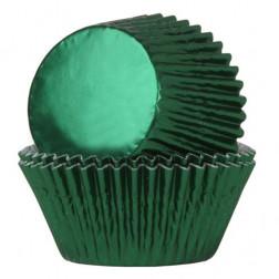 Cupcake Backförmchen Folie Grün 24 Stück