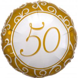 Folienballon 50 Jahre 43cm