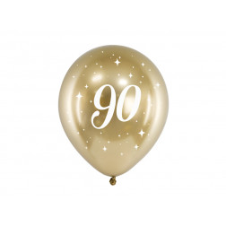 Luftballons 90 Glossy gold 6 Stück