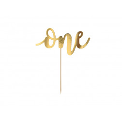 Cake Topper One gold 19cm