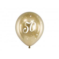 Luftballons 50 Glossy gold 6 Stück