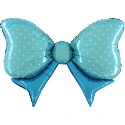 Folienballon Bow blau 109cm