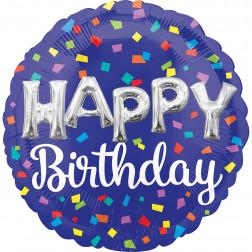 Folienballon Jumbo Happy Birthday Letters 65cm