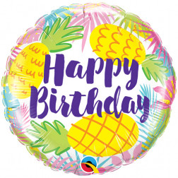 Folienballon Birthday Party Ananas 45cm