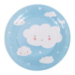 Pappteller Wolken 12 Stück