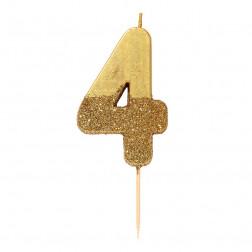 Kerze We Heart Bday Glitter gold 4