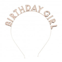 Haarreif Birthday Girl Rose Gold