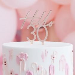 Cake Topper Hello 30 Roségold