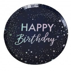 Pappteller Happy Birthday Stargazer 8 Stück