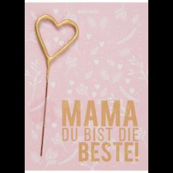 Mini Wunderkerze Beste Mama Wondercard