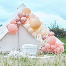 Luxe Peach Nude Rosegold Balloon Arch Kit