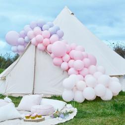 Luxe Pastel Pink Purple Balloon Arch Kit