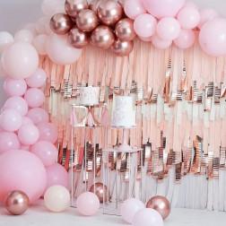Pink Rose Gold Balloon Arch Kit