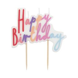 Rose Happy Birthday Candle 10cm