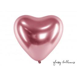 Luftballons Herz Glossy rosegold 5 Stück
