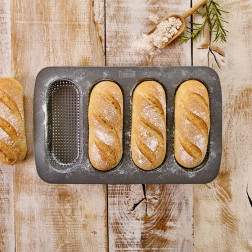Mini-Baguette-Blech perforiert
