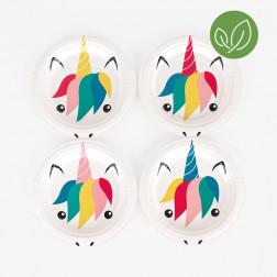 Pappteller mini Unicorn 8 Stück