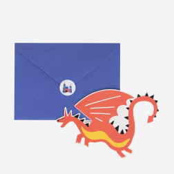 Einladungskarten Dragon 8 Stück