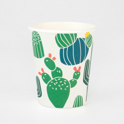 Pappbecher Cactus 8 Stück