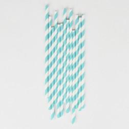 Strohhalme stripes light blue 25 Stück