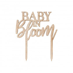 Wooden Cake Topper Baby in Bloom
