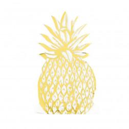 Servietten Ananas Gold 12 Stück